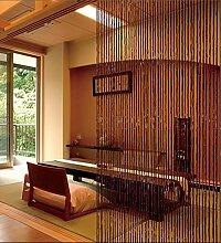 WUFENG Sommer Zimmer Tür Fenster Bambus Perlenvorhang Türvorhang Fadenvorhang Fadenstore Raumteiler Anti-Moskitos Vorhänge ( Farbe : A , größe : 100*200cm )