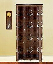 WUFENG Sommer Zimmer Tür Fenster Hölzern Perlenvorhang Türvorhang Fadenvorhang Fadenstore Raumteiler Anti-Moskitos Vorhänge ( größe : 90*180cm )