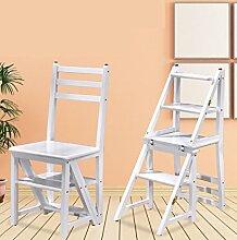WUFENG Stuhl-leiter Hockerleiter, Tritt- Kleine Leiter, Trittleiter, Klapphocker - Holz Retractable Wooden Stool Ladder Staircase With 3 Steps Holz-Tritthocker ( Farbe : G )