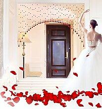WUFENG Vorhang Crystal Beaded Tür Vorhang Raum Tür Fenster Perlen Schnur Vorhang Perlen Wandpaneel Fringe Divider Semi-hanging Vorhänge Vorhänge ( Farbe : C , größe : 120cm wide )