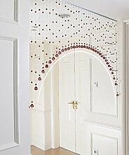 WUFENG Vorhang Crystal Beaded Tür Vorhang Raum Tür Fenster Perlen Schnur Vorhang Perlen Wandpaneel Fringe Divider Semi-hanging Vorhänge Vorhänge ( Farbe : G , größe : 165cm wide )