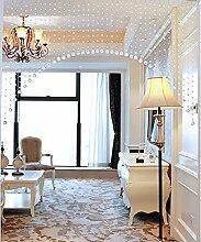 WUFENG Vorhang Crystal Beaded Tür Vorhang Raum Tür Fenster Perlen Schnur Vorhang Perlen Wandpaneel Fringe Divider Semi-hanging Vorhänge Vorhänge ( Farbe : B , größe : 180cm wide )