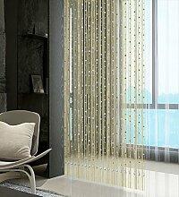 WUFENG Vorhang Sommer-Zimmer Tür Fenster Perlen Quaste String Vorhang Fadenvorhang Fadenstore Raumteiler Kreatives Perlen Quaste Design Vorhänge Anti-Moskitos Vorhänge Vorhänge ( Farbe : C , größe : 160*160cm )