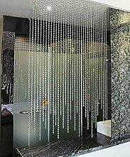 WUFENG Vorhang Sommer-Zimmer Tür Fenster Perlenvorhang Türvorhang Fadenvorhang Fadenstore Raumteiler Kreatives Perlen Quaste Design Vorhänge Anti-Moskitos Vorhänge Vorhänge ( größe : 80*100cm )