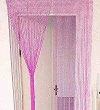 WUFENG Vorhang Sommer-Zimmer Tür Fenster Perlenvorhang Türvorhang Fadenvorhang Fadenstore Raumteiler Kreatives Perlen Quaste Design Vorhänge Anti-Moskitos Vorhänge Vorhänge ( Farbe : A , größe : 90*210cm-90string )