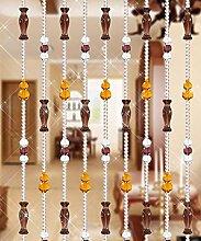WUFENG Vorhang Sommer-Zimmer Tür Fenster Perlenvorhang Türvorhang Fadenvorhang Fadenstore Raumteiler Kreatives Perlen Quaste Design Vorhänge Anti-Moskitos Vorhänge Vorhänge ( Farbe : C , größe : 80*180cm )