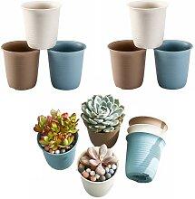 WUHUAROU 12 Stücke Blumentöpfe Plastik Mini