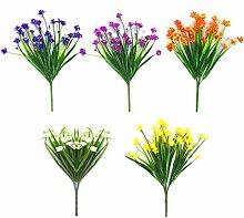 WUHUAROU 5 Stücke Künstliche Blumen Gräser