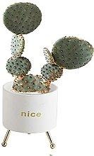 WUHUAROU Keramik Sukkulenten Töpfe Kaktus Pflanze