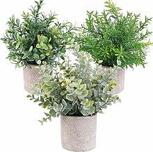 WUHUAROU Künstliche Pflanzen im Topf Künstliche