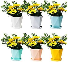 WUHUAROU Plastik Blumentöpfe Sukkulenten Töpfe