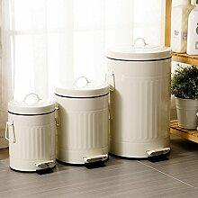 Wuieayon Europäische Mülleimer, Retro, Eindickung, Stummschaltung, Pedal, Amerikanische Küche, Bad, Wohnzimmer Mit Deckel, Wc-Bürste