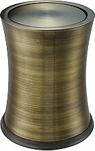 Wuieayon Mülleimer, Badezimmer Mit Small Cap, Schütteln, Deckel Aus Edelstahl Mülleimer, Europäischen Stil Kreativität, Bronze