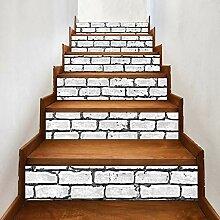 WuLi77 3D Ziegelstein-Treppen-Aufkleber, 6