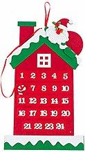 WuLi77 Adventskalender mit 24 Tagen für