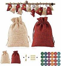 WuLi77 Weihnachtssack,24 Teile/Satz Weihnachten