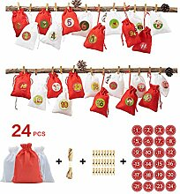 WuLi77 Weihnachtssack,24pcs / Set Adventskalender