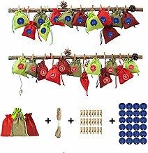 WuLi77 Weihnachtssack,24pcs Weihnachten