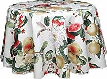 Wunderbare abwischbare Tischdecke rund, ca. 160 cm, Sandias von Provencestoffe