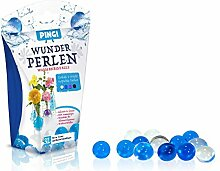 Wunderperlen Wasserkristalle Pingi Luftbefeuchter für Dekorationsschale oder Vasen Deko Befeuchter Farbwahl (Transparent, blau, violett, schwarz)