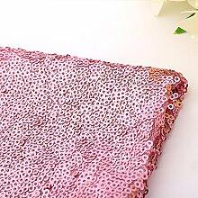 Wunderschöne 100x 130cm Funkeln Pailletten Tischdecke Cover für Bankett Hochzeit Party Decor, rosa