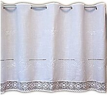 wunderschöne Bistrogardine 60x150 cm weiß