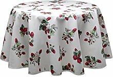 Wunderschöne Provence-Tischdecke mit Erdbeeren,
