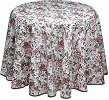 Wunderschöne Rosentischdecke, beschichtet,