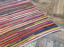 Wunderschöne Second Nature, umweltfreundlich, mehrfarbig Jahre Chindi Flickenteppich-wählen Sie aus über zwölf verschiedene Größen, baumwolle, multi, 90 x 150 cm