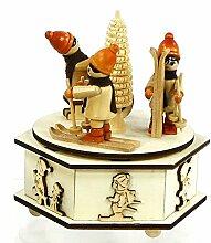 Wunderschöne Spieldose mit Winterkinder, Melodie: Oh du Fröhliche, 11 x 11 x 13 cm