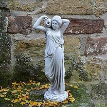 Wunderschöne Statue Figur Frau mit Wasserlauf aus