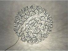 wunderschöne, strahlende Lampe Kugel, silber mit