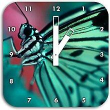 Wunderschöner Schmetterling, Wanduhr Quadratisch