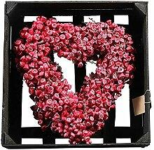 Wunderschöner Türkranz in Herzform/Dekoherz zum