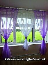"""Wunderschönes Voile Netz Vorhänge Home Fenster Dekorationen, lila, 153.54"""" x 63"""