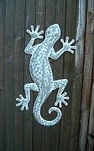 Wunderschönes Wandobjekt, Gecko, Wanddekoration, Eisen, Handarbei