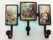 wundervolle Wandgarderobe Kinderzimmer rustikal