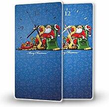 Wunschliste - Moderne Wanduhr mit Fotodruck auf Polycarbonat   Fotouhr Bilderuhr Motivuhr Küchenuhr modern hochwertig Quarz   Variante:30 cm x 60 cm mit weißen Zeigern