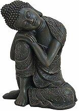 Wurm Design Genialer Buddha kniend 18cm Braun aus