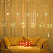 Wuudi Wuudi Schneeflocke Lichterketten LED-Fenster