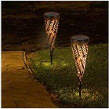 wuuhoo Gartenfackel Nahla mit LED und Solar aus