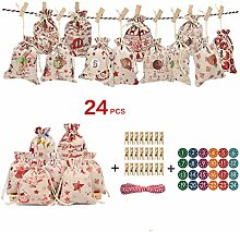 Wuweiwei12 24 Stück/Set Weihnachten Serie