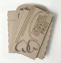Wuweiwei12 Holz-Briefkasten mit Schloss und