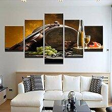 Wuwenw Leinwand Gemälde Küche Wand Kunst Rahmen