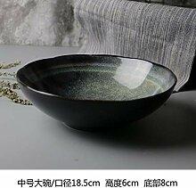 WUWUKAI Haushaltsnudelschale Keramikschale