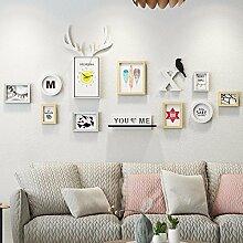 WUXK Die Bilder im Wohnzimmer an der Wand Dekoration kreative Wand Uhren Wand C