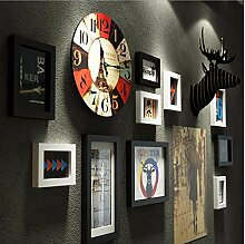 WUXK Retro Industrial Fan dekorative Wanduhr