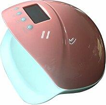 WUYY Phototherapie Lampe Nail Art Smart Phototherapie Maschine Nagellack LED Lampe Trockner Nagel Werkzeuge Timing Induktion,Pink