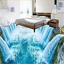 Wuyyii 3D-Tapete für Badezimmer, 3D-Wasserfall,