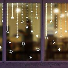 WVXstar ringmauer aufkleber geschäften fenster vitrine türen und fenster - schriftzug aufkleber kreative romantische dekorative aufkleber